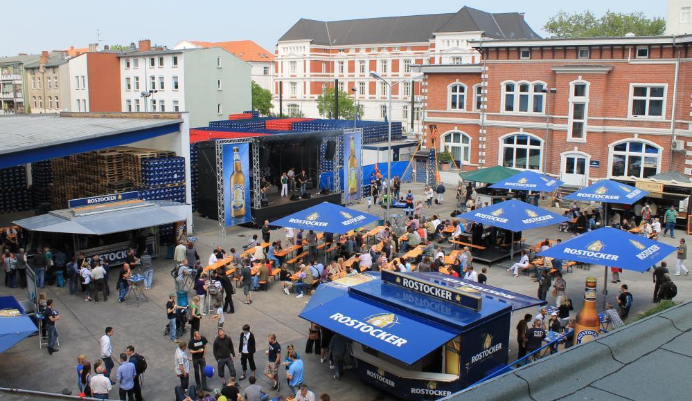 Hanseatische Brauerei Rostock beim KTV-Fest blaumachen 2011