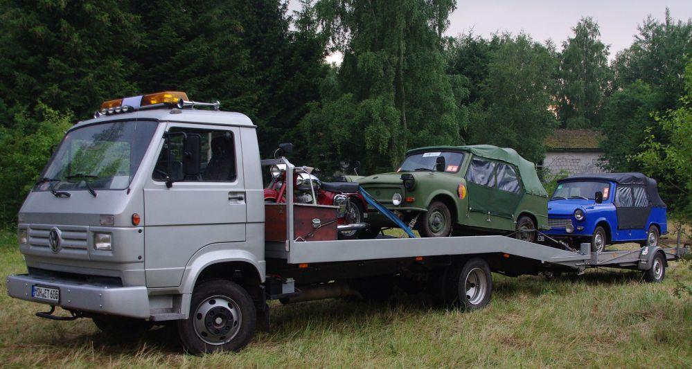 schwieriges Gelände beim 10. Ostblockfahrzeugtreffen 2011 in Pütnitz